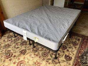 Full Size Metal Platform Bed Frame with Box Spring for Sale in Brandon, FL