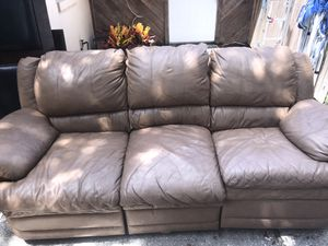 Leather recliner sofa for Sale in Winter Haven, FL