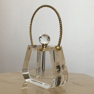 Vintage Crystal Gold Perfume Bottle Dabber Handbag Purse Bag Shape Hollywood Regency for Sale in Los Angeles, CA