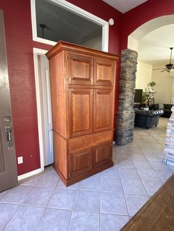 Dresser / Armoire Solid Wood With Storage Shelves And Drawers for Sale in Phoenix,  AZ