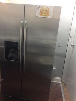 Refrigerator side by side stainless steel warranty for Sale in Boca Raton, FL