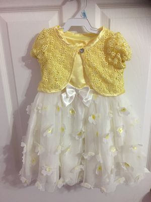Toddler Girls White and Yellow Fashion Dress (Size 3T) for Sale in Garden Grove, CA