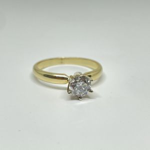 """Ladies 14k Yellow Solitaire Ring w/ over 1/2 carat diamond """"tons of sparkle"""" for Sale in AZ, US"""