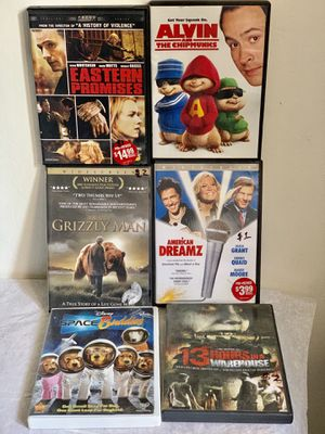 Pre-owned 6 Movies all$6 for Sale in Mountain View, CA