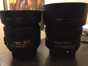 Nikon lenses 35mm and 50mm for Sale in Los Angeles, CA