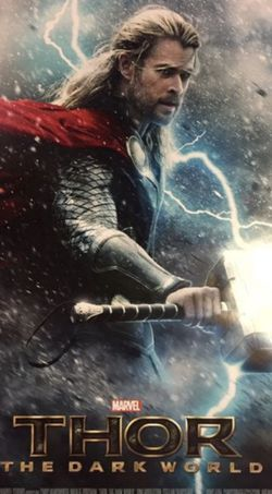 Marvel Thor Dark World Original Theater Teaser Poster for Sale in Los Angeles,  CA