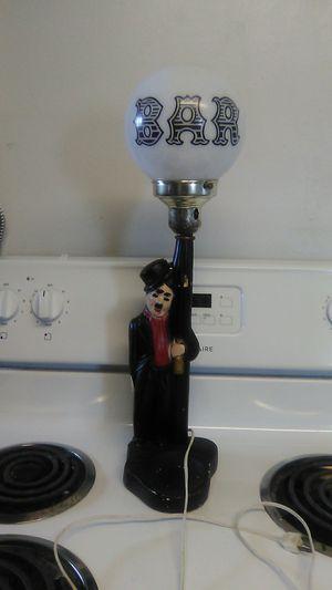 "Vintage working Charlie Chaplin ""drunk hobo"" lamp for Sale in Marysville, OH"