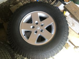 Jeep Wheels and tires for Sale BF Goodrich Bojo champion 285/70R17 Comes with spare tire as well for Sale in Aspen Hill, MD