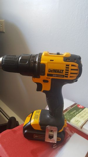 Dewalt drill 20v max with battery 2 speeds no charger for Sale in Bensenville, IL