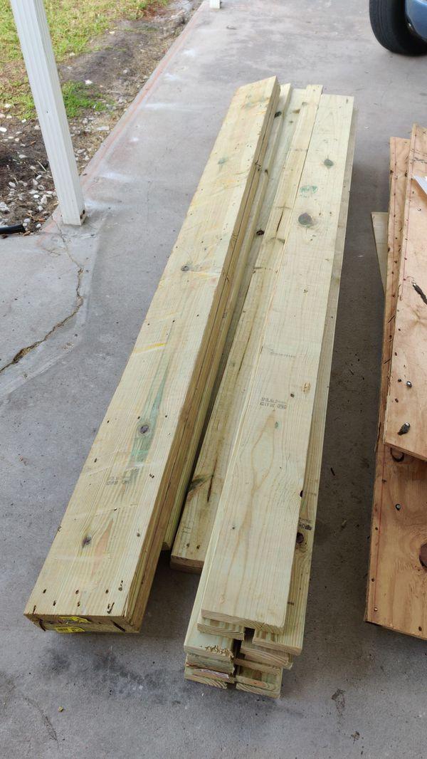New pressure treated lumber