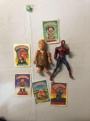 Garbage pail kids, Barney flinstones, Spider-Man for Sale in Covina, CA