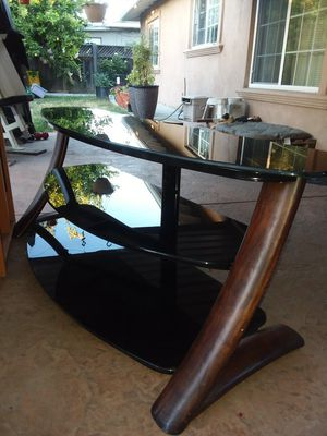 TV stand, black/wood. Pick only from San Jose. for Sale in San Jose, CA