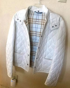 Burberry White Quilted Jacket - Small for Sale in Fremont, CA