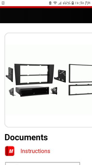 Audi A4 2000-2001 double din dash kit part/ 99-9105 for Sale in Industry, CA