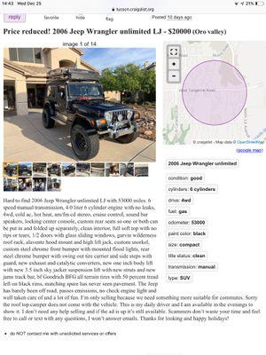 2006 Jeep Wrangler unlimited LJ for Sale in Tucson, AZ