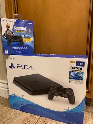 1TB Black PS4 Slim + Wireless Controller - Unopened Brand New for Sale in Rancho Cucamonga, CA