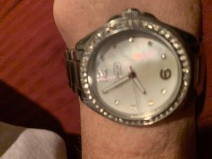 Sterling mother of pearl face Crystal bezel, brand-name Coach for Sale in Seattle, WA