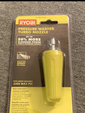Ryobi pressure washer turbo nozzle for Sale in The Colony, TX