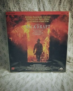 """Back Draft"" Laserdisc 1991 for Sale in Sterling, IL"