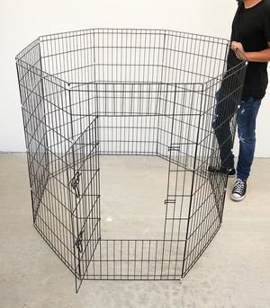 """Brand New $45 Foldable 48"""" Tall x 24"""" Wide x 8-Panel Pet Playpen Dog Crate Metal Fence Exercise Cage for Sale in Pico Rivera, CA"""