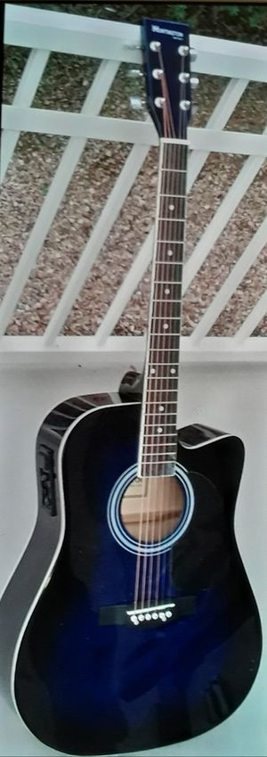 Brand new midnight blue acoustic electric guitar for Sale in Lebanon, TN