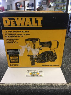 DEWALT DW45RN 15-Degree COIL ROOFING NAILER: NIB! for Sale in Roanoke, VA