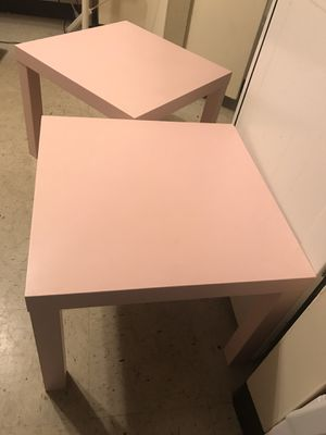 Ikea two side tables for Sale in Newark, NJ