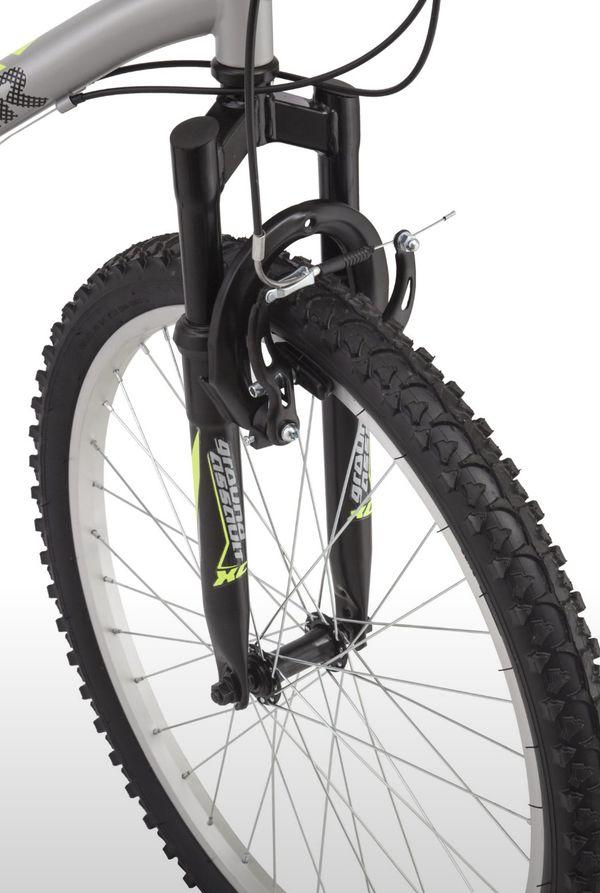 Roadmaster Granite Peak Boy's Mountain Bike, 24-inch wheels, Silver