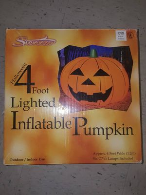 Lighted inflatable pumpkin for Sale in Silver Spring, MD
