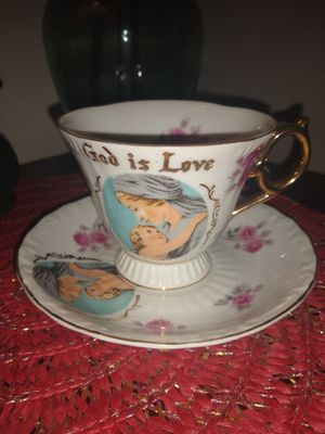 Vintage God is love tea cup and saucer for Sale in Kent, WA