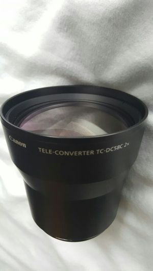 Canon TC-DC58C Tele Converter Lens for Canon A650IS, G7 & G9 for Sale in San Francisco, CA