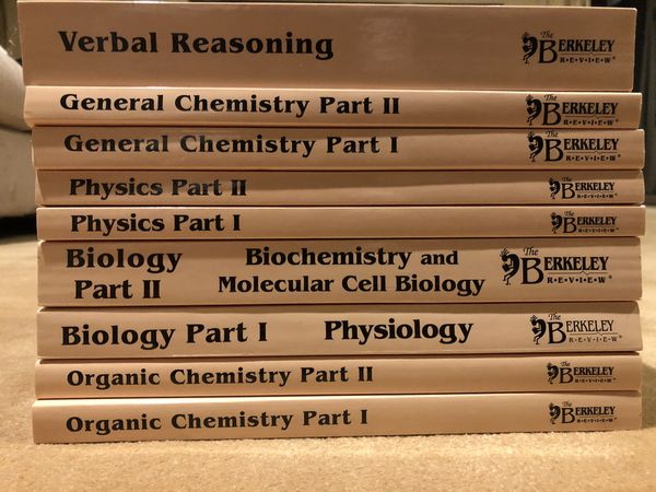 The Berkeley Review MCAT Prep! The Complete Set! Perfect Condition