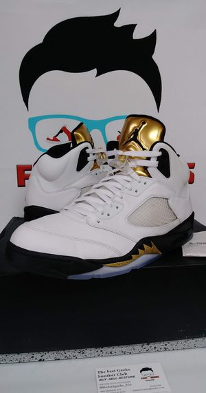 Nike Air Jordan 5 Retro Gold Medal Men's Shoes Size 13 for Sale in Cleveland, OH