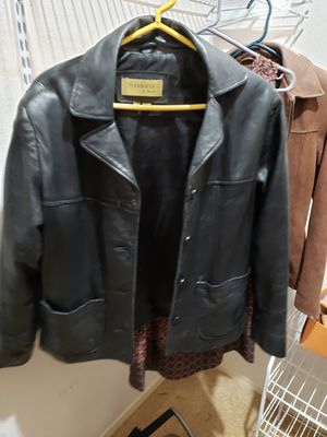 Genuine black leather jacket $30 for Sale in Houston, TX