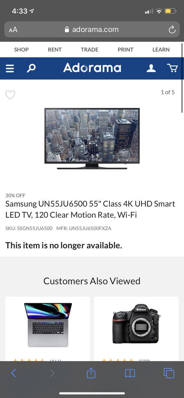 55 inch Samsung smart hdtv