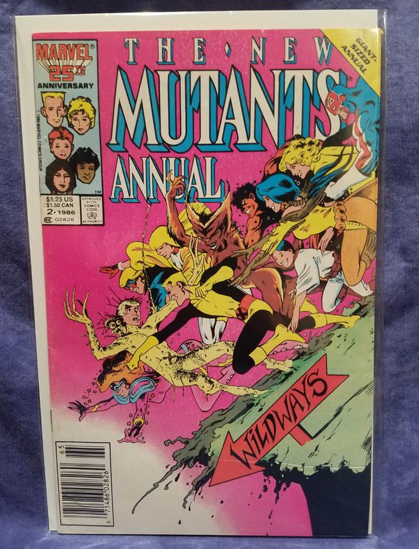 Marvel Comics The New Mutants Giant Sized Annual #2 Comic Book, 1986 (VG)