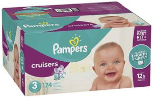Pampers diapers cruisers size 3 for Sale in Downey, CA