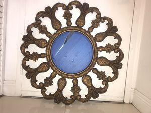Antique vintage Sun design round decor mirror looks rich by Harrison and gills for Sale in Miami, FL