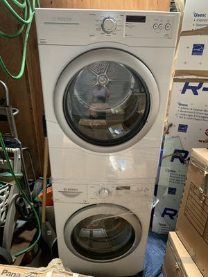 Great stackable washer and dryer Bosch brand Excellent condition Only 690$. Obo for Sale in Mountain View, CA
