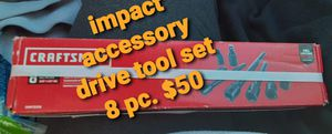 Impact accessory Drive tool set 8 piece for Sale in Little Rock, AR