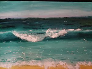 Ocean waves painting for Sale in Minot, ND