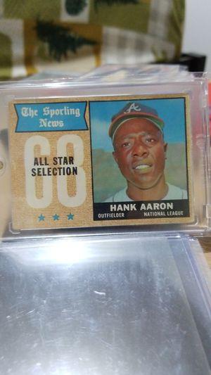 Baseball card- 1968 hank aaron for Sale in Roseburg, OR