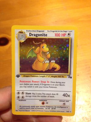 Pokemon Cards First Edition Dragonite for Sale in Santa Ana, CA