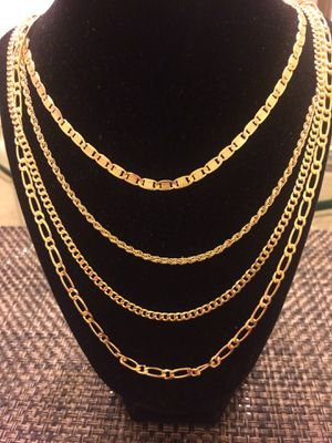 Gold plated14K chains. No gold. for Sale in Helotes, TX