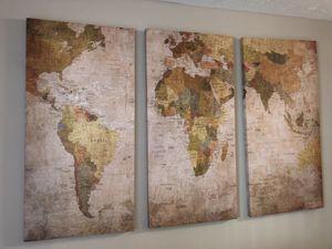 World Map canvas set for Sale in Atlanta, GA