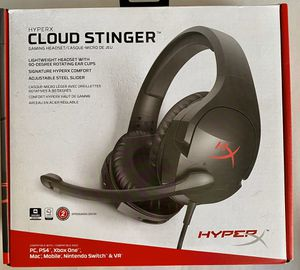 HyperX - Cloud Stinger Wired Stereo Gaming Headset for PC, PS4, Xbox One*, Nintendo Wii U, Mobile Devices - Red/Black NEW NEVER USED for Sale in Winter Springs, FL
