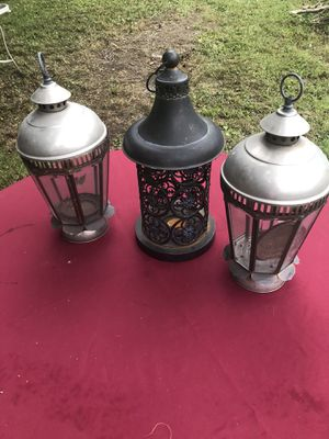 3 candle lights holders for Sale in Haymarket, VA