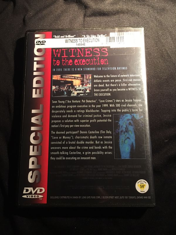 Witness to the execution SPECIAL EDITION Sean Young Tim Daly DVD GREAT CONDITION