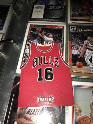 Pau Gasol Chicago Bulls Panini threads for Sale in Bensalem, PA