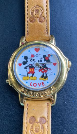 Mickey, and Mini Mouse lorus quartz love watch for Sale in Houston, TX